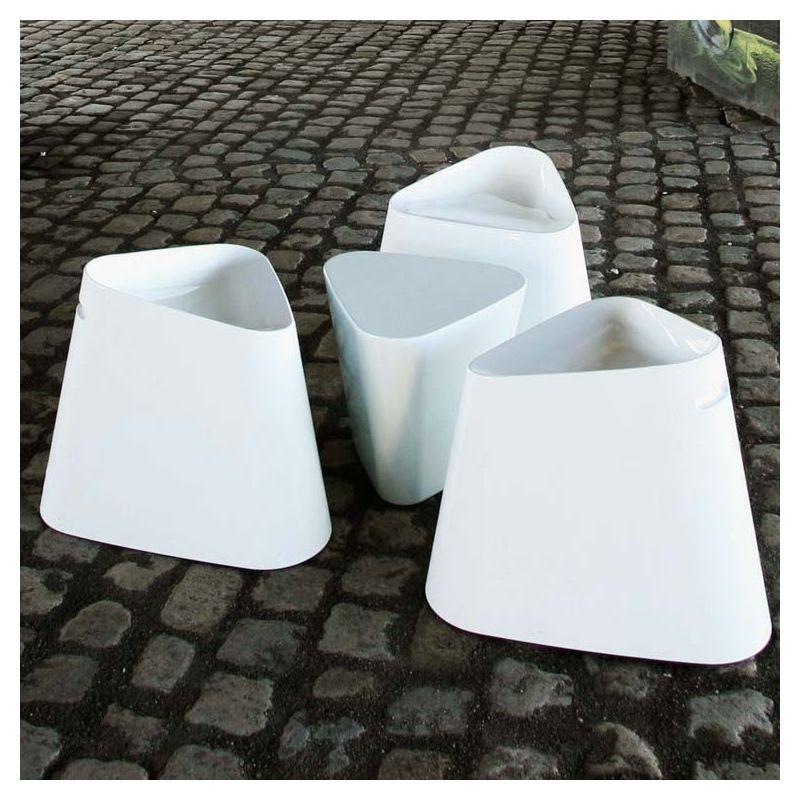 tabouret laqu pouf design tribe xl boom. Black Bedroom Furniture Sets. Home Design Ideas