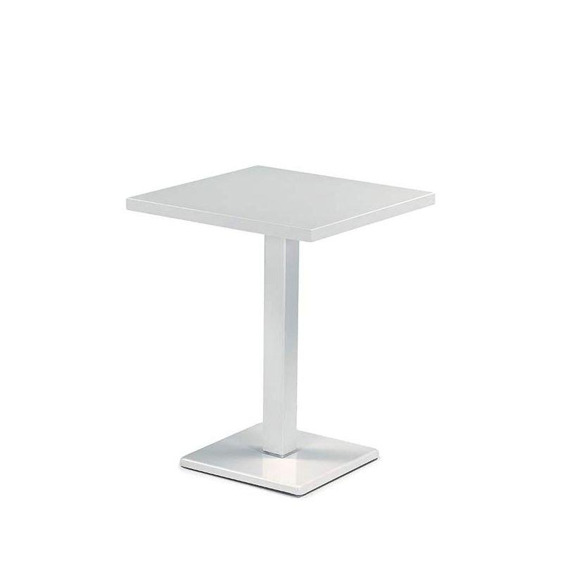 Round, table jardin carrée en métal Emu, pied central