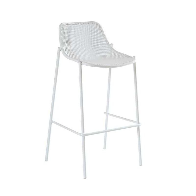 Round chaise de bar m tal emu h 75 cm empilable for Chaise 75 cm