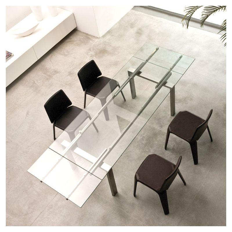 Magic table verre extensible ou bureau pedrali for Table extensible 280 cm
