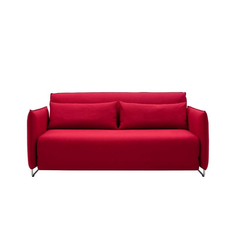 Canapé convertible rouge CORD Softline