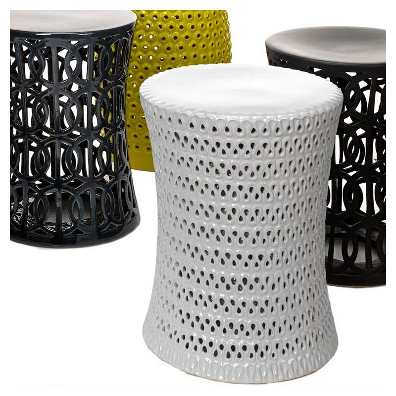 cutout tabouret blanc c ramique pols potten. Black Bedroom Furniture Sets. Home Design Ideas