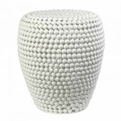 Tabouret table d'appoint blanc DOT STOOL Pols Potten