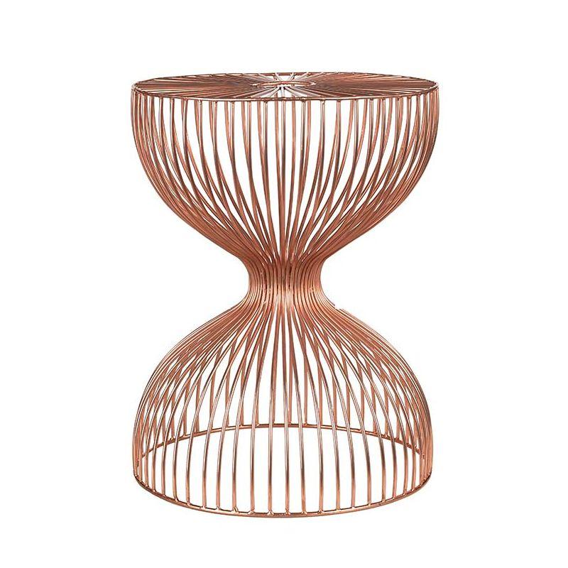 wire dumbbell tabouret pols potten fil noir ou cuivre. Black Bedroom Furniture Sets. Home Design Ideas