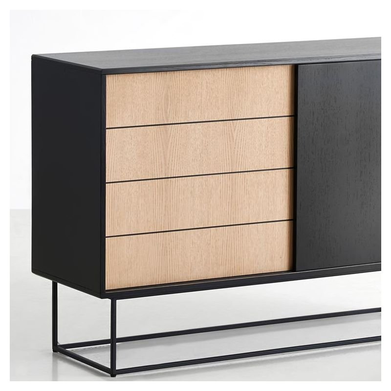 Buffet rangement virka design danois woud - Buffet contemporain design ...