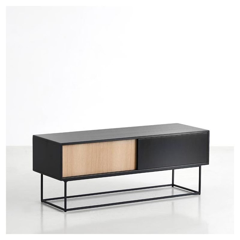 Virka meuble tv design et rangement woud for Meuble bas salon design