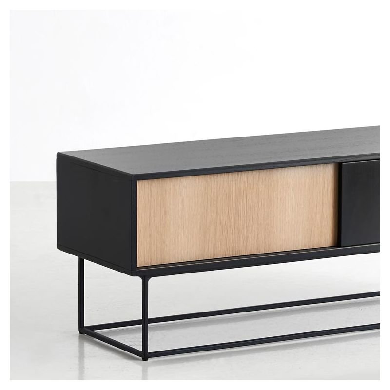 Virka meuble tv design et rangement woud for Meuble bas long salon