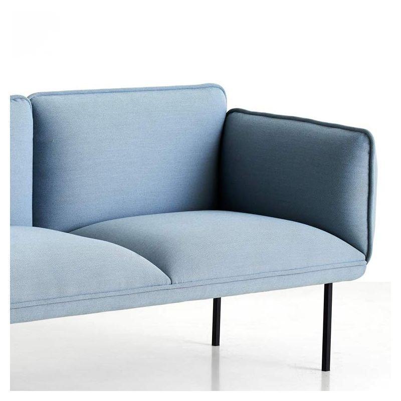 Canapé Nakki tissu rembourré, design scandinave Woud