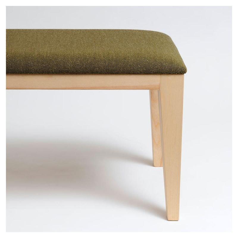 Bob Petit Banc Design En Bois Cuir Tissu Mjiila