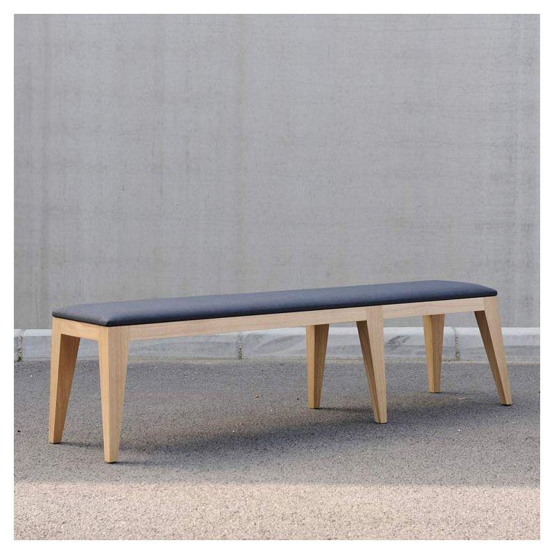 om 4 2 banc en bois design rembourr mjiila. Black Bedroom Furniture Sets. Home Design Ideas