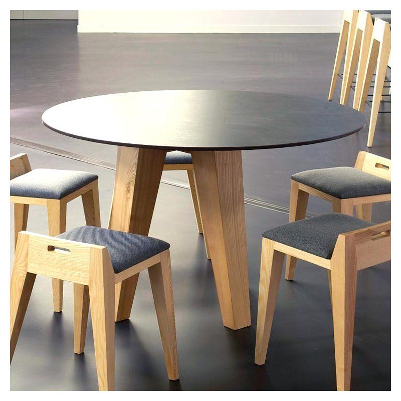 table design ronde en bois massif om 3 mjiila. Black Bedroom Furniture Sets. Home Design Ideas