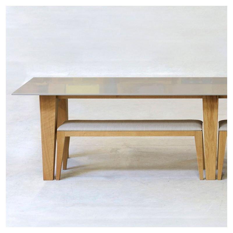 Table design rectangulaire bois om 1 2 mjiila for Table design rectangulaire