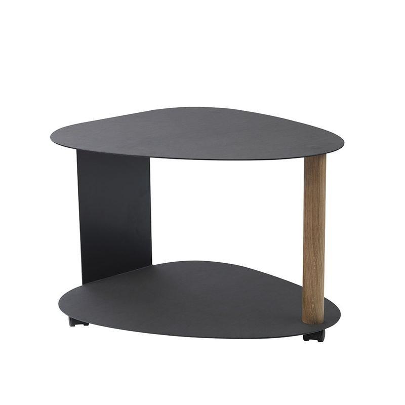 Table Basse Imitation Cuir Noir