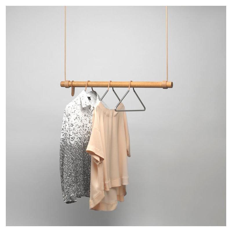 Swing portant suspendu lind dna en bois cuir - Portant vetement suspendu ...