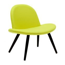 Chaise lounge tissu Divina coloris vert anis ORLANDO Softline