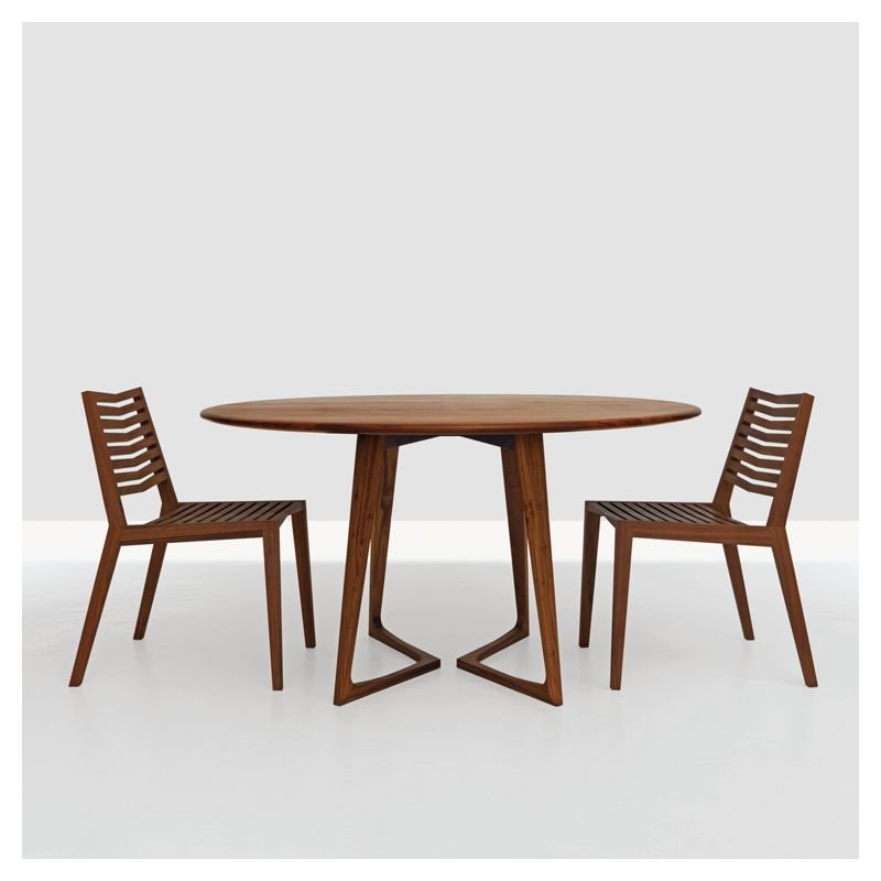 Superieur Table Ronde Noyer Américain TWIST Zeitraum