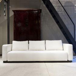 Canapé lit blanc écru COLORADO Softline