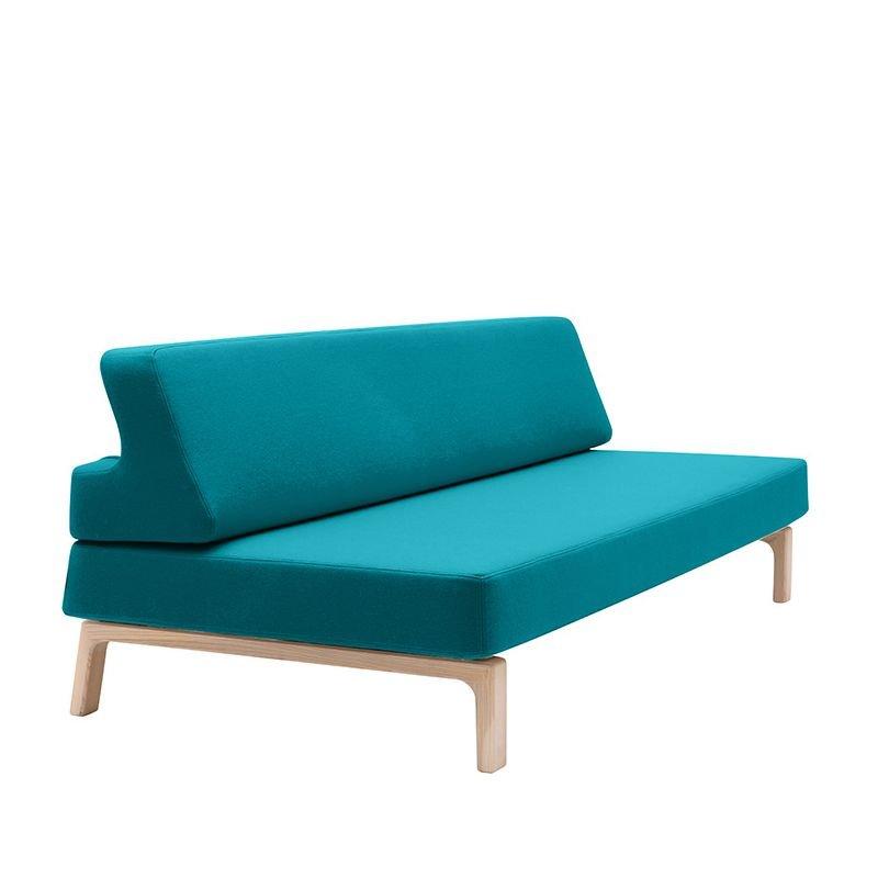 Canapé lit turquoise LAZY Softline