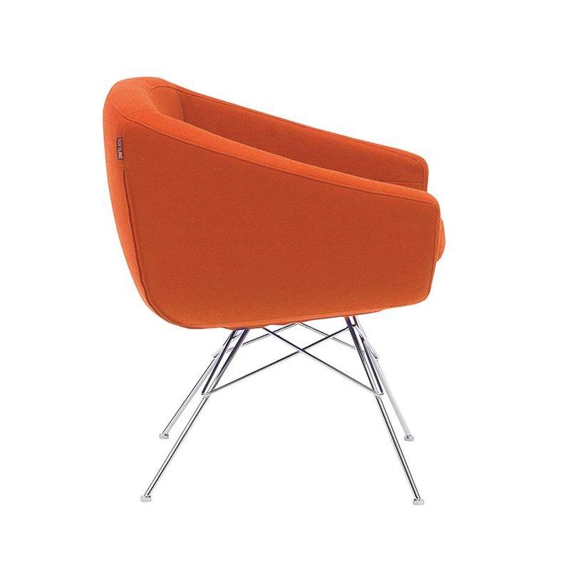 Aiko chaise design rembourr e avec accoudoirs softline for Mesure d une chaise