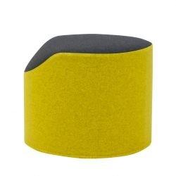 Pouf CORAL Softline, revêtu tissu Felt moutarde/noir