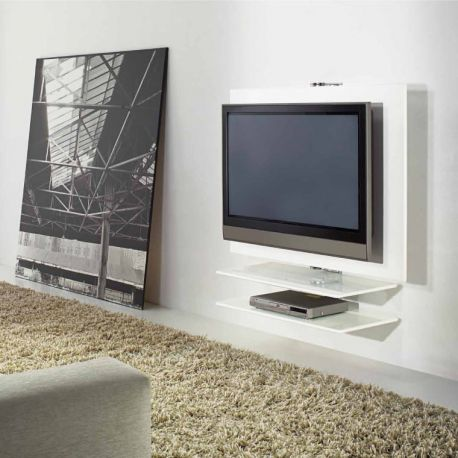 giro meuble tv mural pivotant laqu kendo. Black Bedroom Furniture Sets. Home Design Ideas