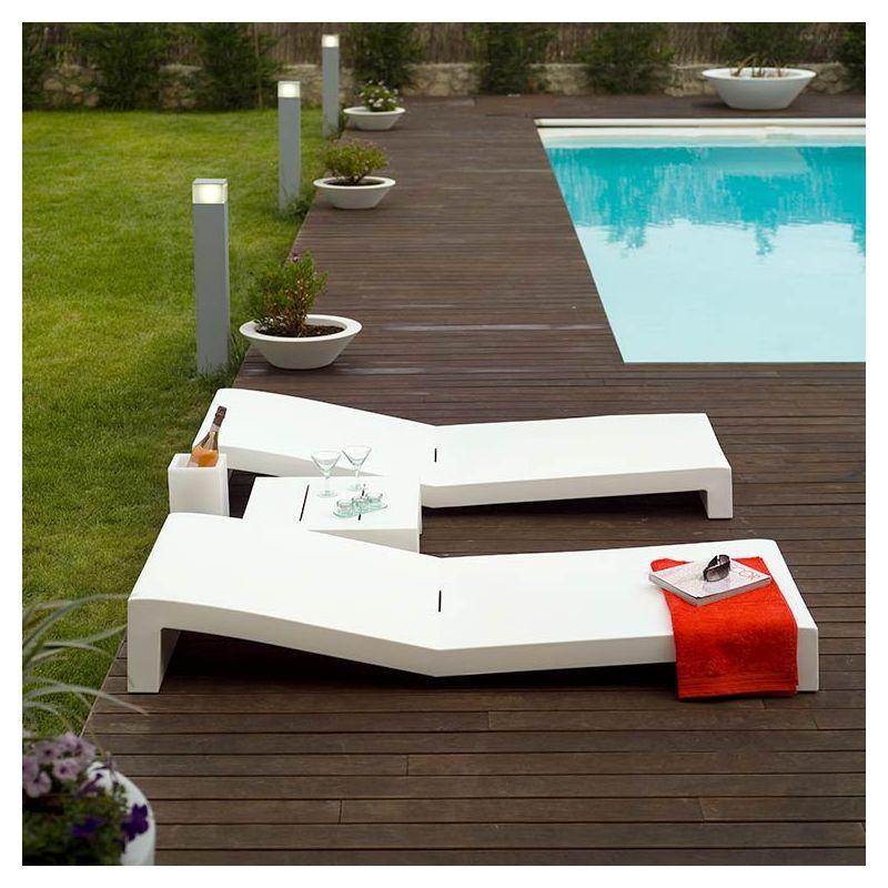 Jut bain de soleil design vondom transat moderne - Bain de soleil contemporain ...
