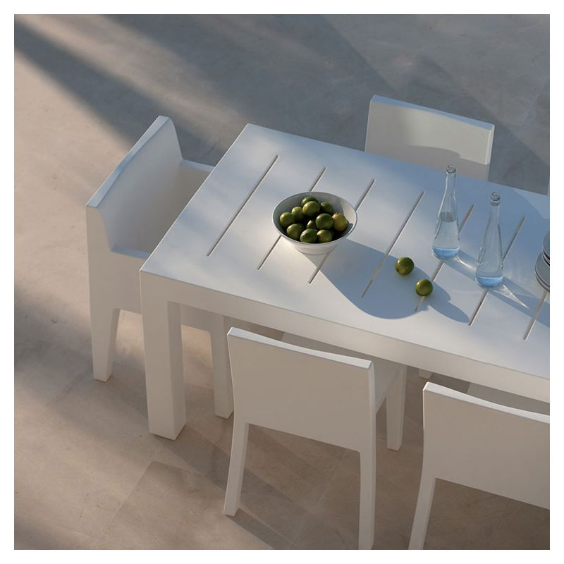 Table outdoor rectangulaire blanche JUT Vondom