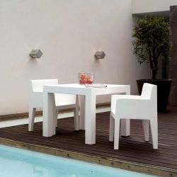 Table outdoor carrée blanche JUT Vondom