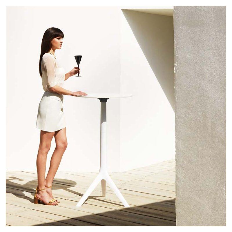 Table Haute Ronde mari-sol, table de bar ronde pliante vondom