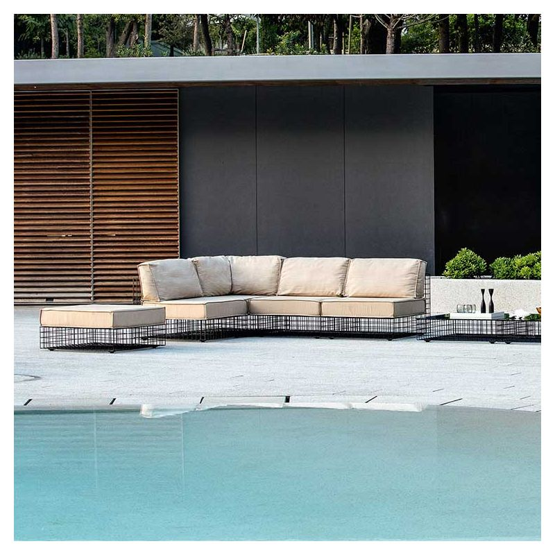 grid chauffeuse salon outdoor varaschin. Black Bedroom Furniture Sets. Home Design Ideas