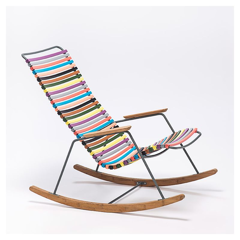 Click rocking chair ext rieur houe bambou r sine for Rocking chair exterieur