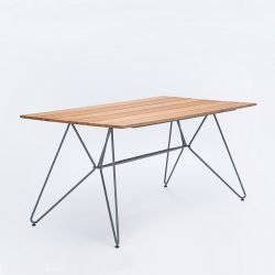 Table rectangulaire en bambou longueur 160 cm SKETCH Houe