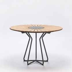 Table ronde en bambou & granit Ø 110 cm CIRCLE Houe