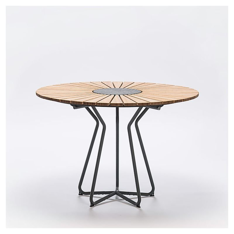 circle table de jardin ronde en bambou houe. Black Bedroom Furniture Sets. Home Design Ideas