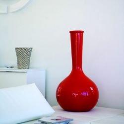 Vase rouge brillant hauteur 65 cm FLASK CHEMISTUBE Vondom