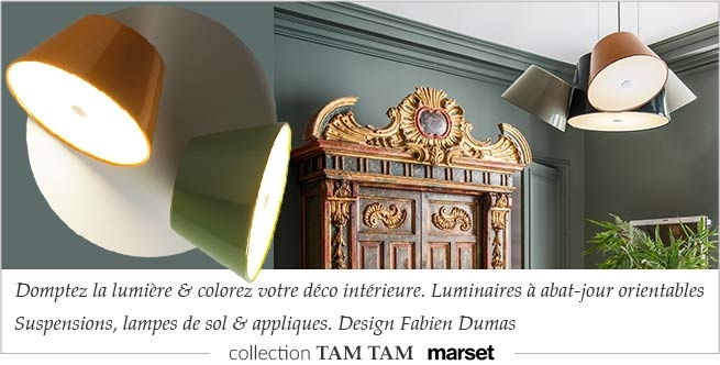 Collection TAM TAM Marset, luminaires design Fabien Dumas