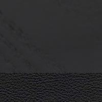 Frêne laqué noir assise cuir noir