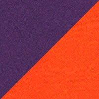 Assise violet-Vilano, dossier mandarine-Felt 624