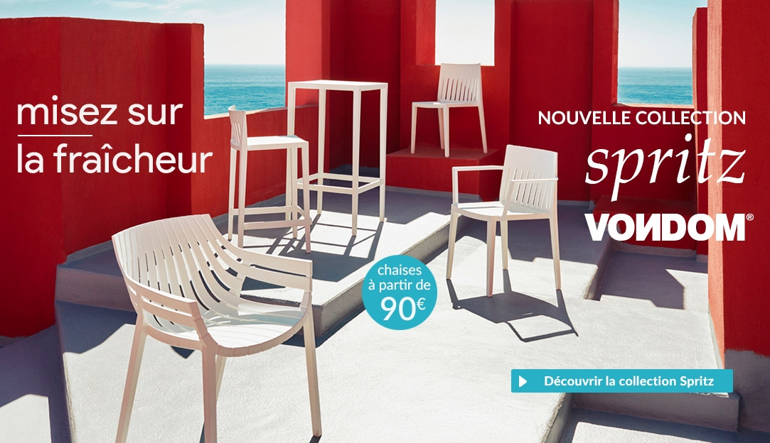 Collection de mobilier de jardin Spritz Vondom, design Archirivolto