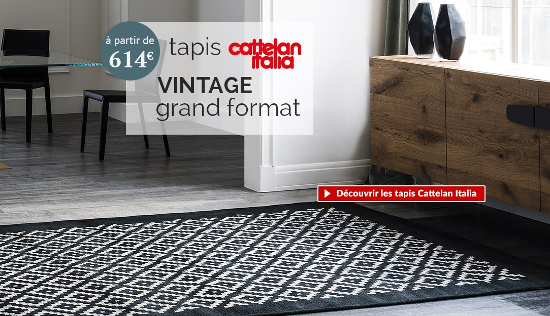 Tapis Halibut de la collection de tapis vintage Cattelan Italia