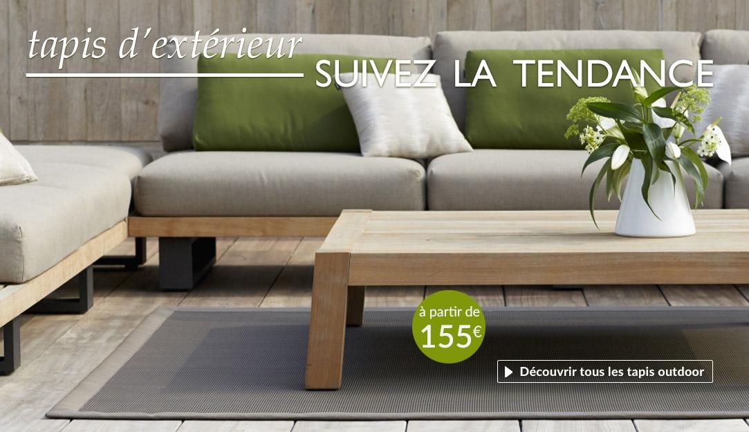 Tapis design contemporain pour salons d'été et terrasses
