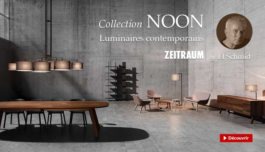 Collection de luminaires contemporains Noon, design El Schmid pour la marque allemande Zeitraum