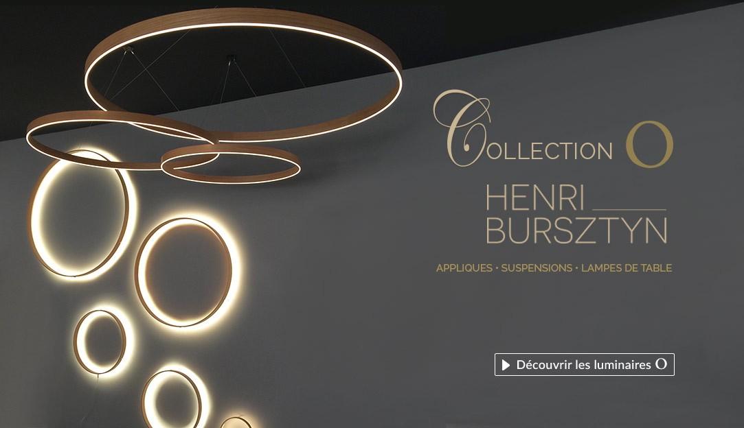 Découvrir la collection de lampes LED O du designer français Henri Bursztyn
