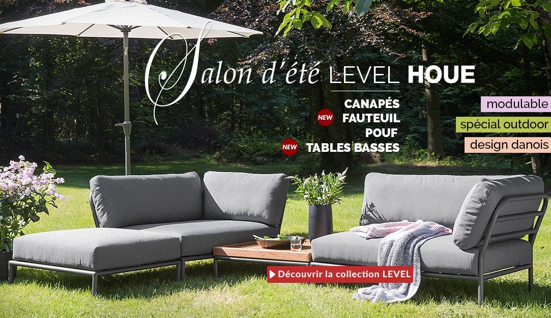 Salon d'été modulable Level de la marque Houe