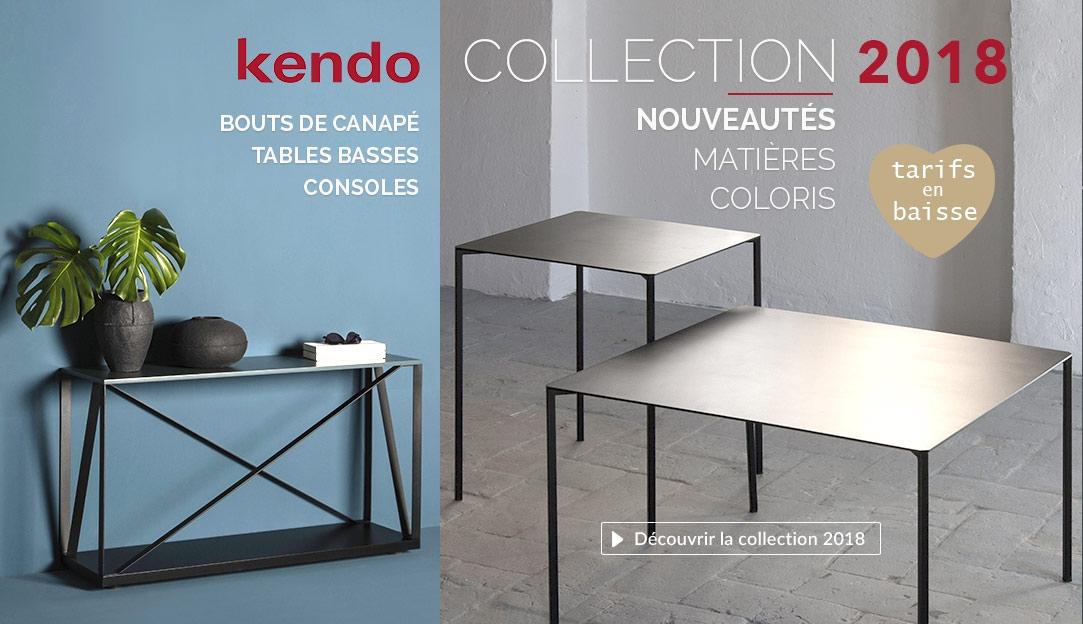 Collections 2018 et nouveautés mobilier design de la marque Kendo