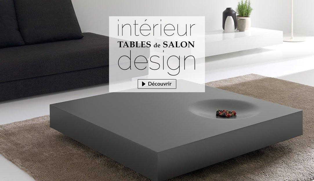 Tables basses contemporaines et tables design pour le salon