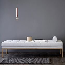 Méridienne tissu gris clair SQUARE DAYBED Bloomingville