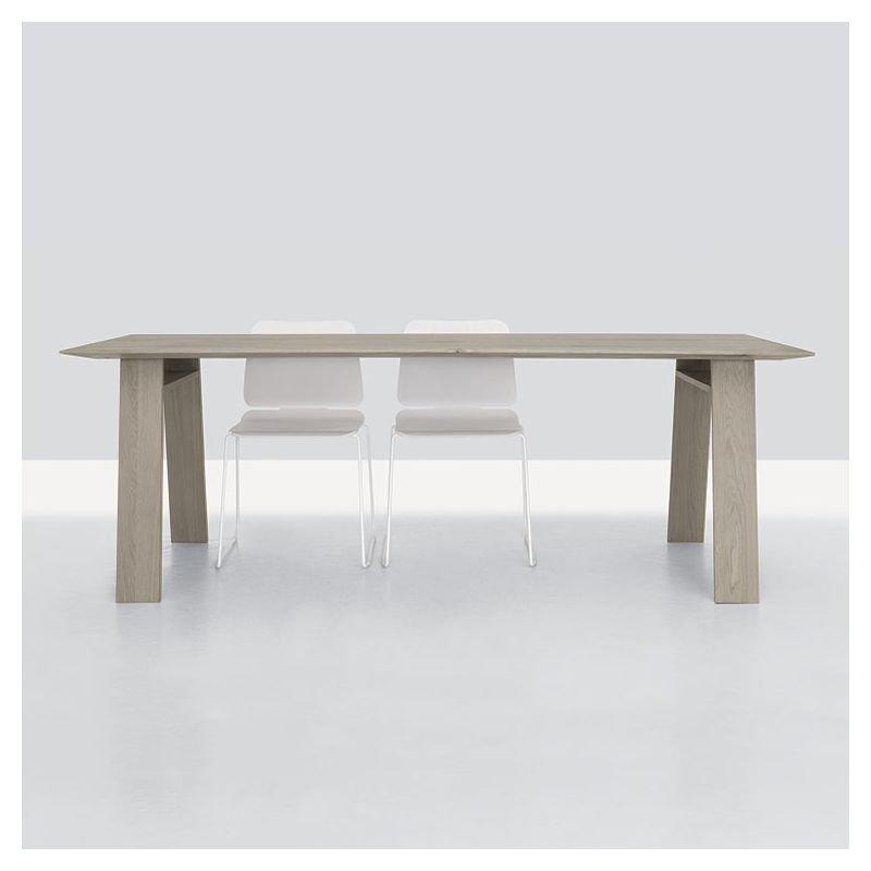 Table rectangulaire chêne massif teinté craie BONDT Zeitraum