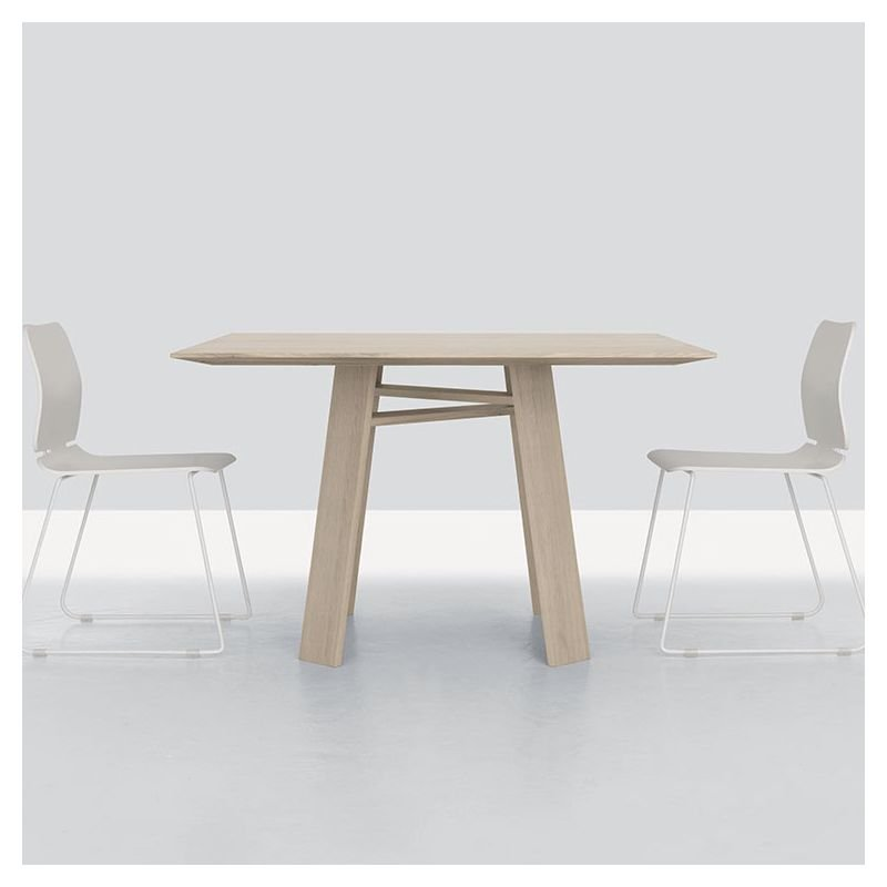 Table carrée en bois teinté craie BONDT Zeitraum
