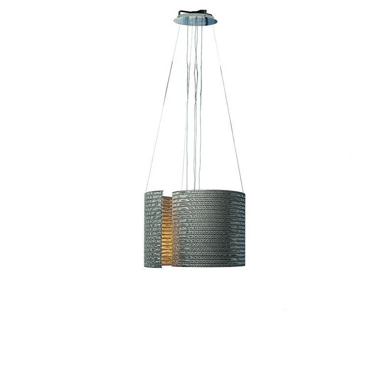 Suspension eco-design coloris gris @LUCE Small Staygreen